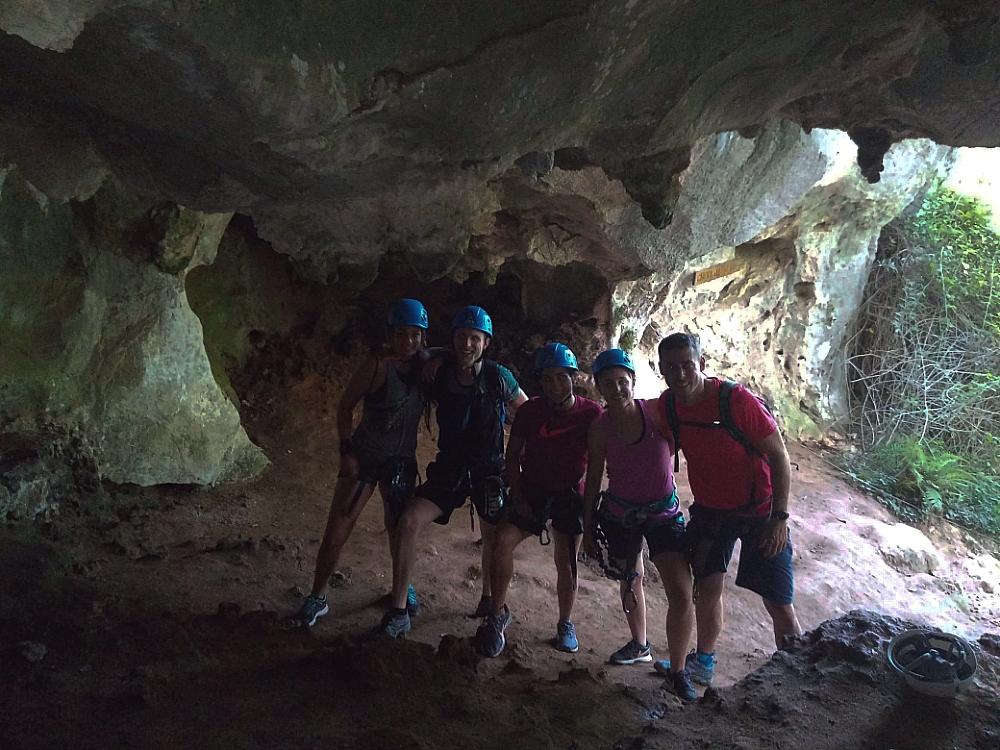 via ferrata en Cantabria. Cueva Jabali