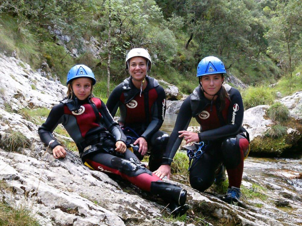 barranquismo con niños en Asturias