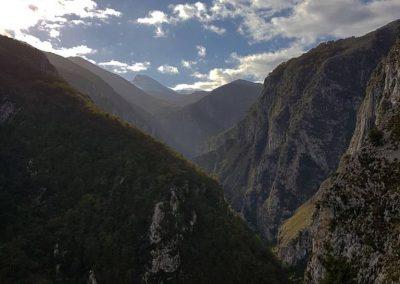 canal de urdon. trekking