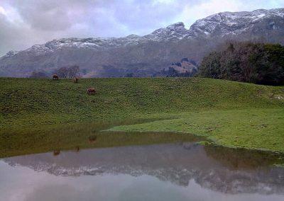 senderismo invernal en la Sierra del Cuera, LLanes. Trekking y rutas de montaña