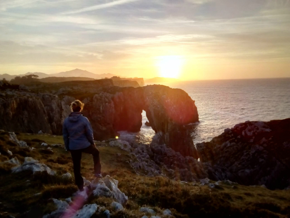 ruta de la costa oriental de Asturias. senderismo en LLanes.