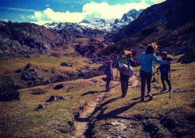 trekking con niños en Picos de Europa.