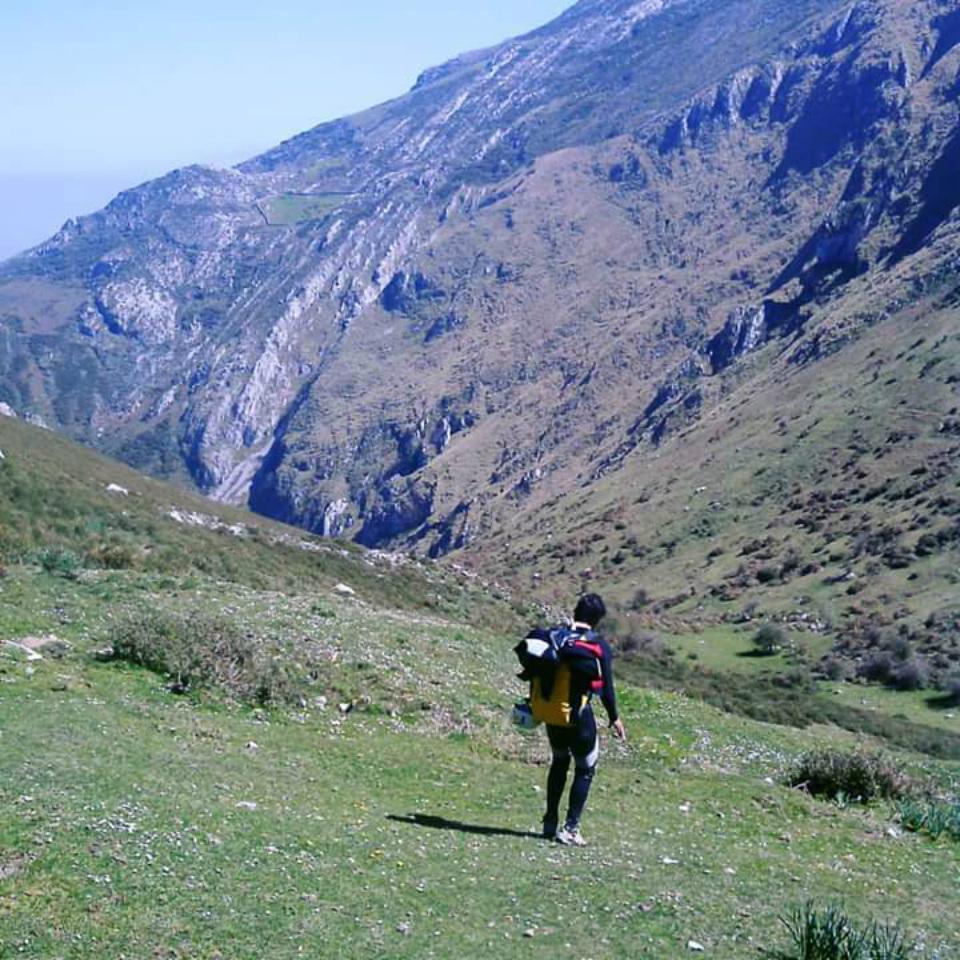 Aproximación al barranco del Valcabrero, LLanes, Asturias.