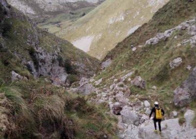 barranco del Valcabrero - caos de bloques