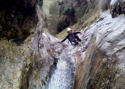 barranco del Valcabrero - tobogán