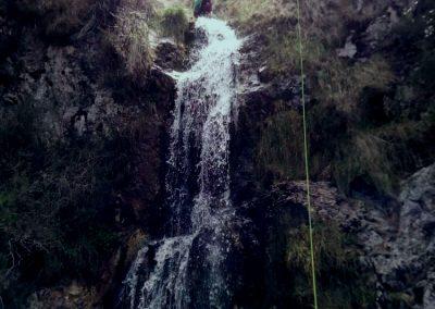 barranco del Valcabrero - primer rapel